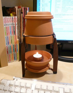how to make a candle heater. Black Bedroom Furniture Sets. Home Design Ideas